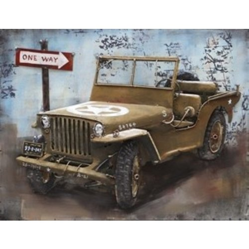 Eliassen Malerei Metall 3d 80x60cm Jeep