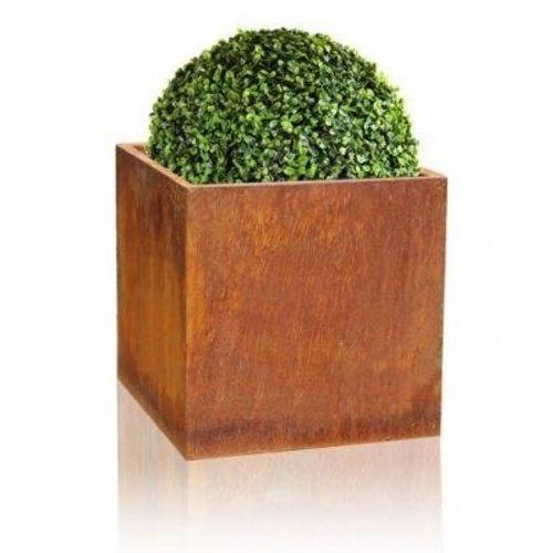 Flower box 40x40x40 cm corten steel square