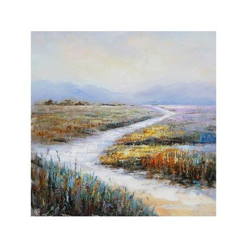 Canvas schilderij 100 x 100 cm Landschap