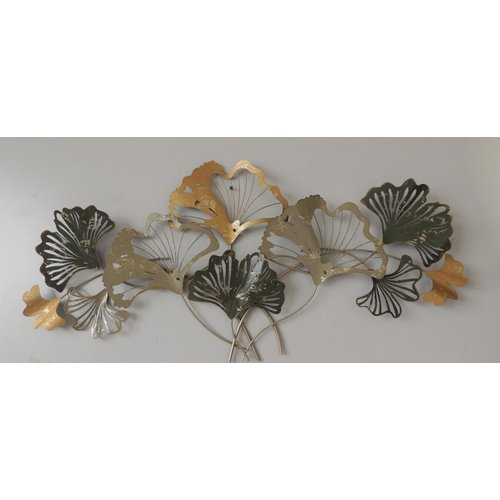 Wall decoration metal 3d Ginko