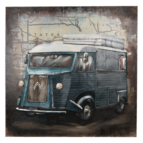 Eliassen 3D Malerei 80x80cm Bus