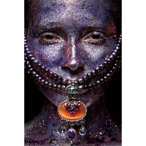 Bild hinter Glas Malerei Halskette