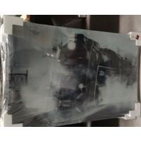 Schilderij glas stoomlocomotief 60x90