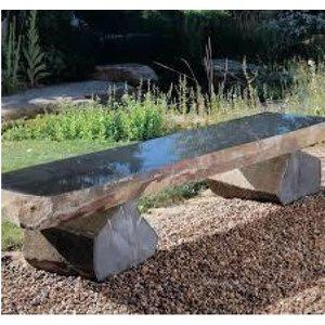 Garden bench basalt stone Bas