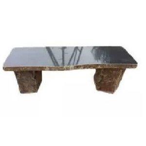 Garden bench basalt Elegant