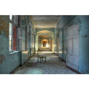 Glasmalerei Verlassenes Gebäude 120x80cm