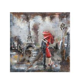 Eliassen Metal 3d painting Paris 60x60cm