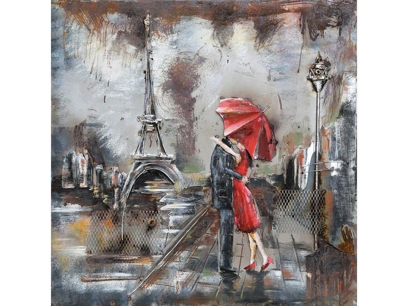Eliassen Metalen 3d schilderij Wet Paris 60x60cm