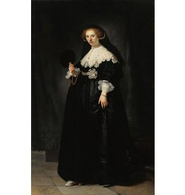 Glas schilderij Gouden eeuw vrouw 120x80cm