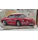 3D-Malerei Metall 60x120cm Auto