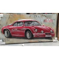 3D-Lackiermetall 60x120cm Auto