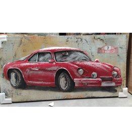 3D painting metal 60x120cm Car