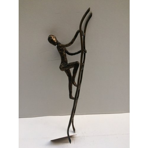 Bronze man on ladder 2