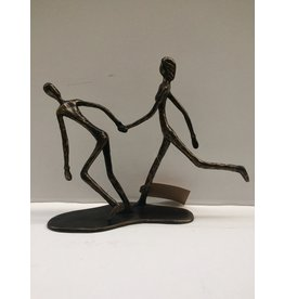 Bronze couple walking