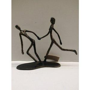 Bronze couple walking