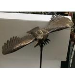 Bronzen tuinsteker adelaar groot