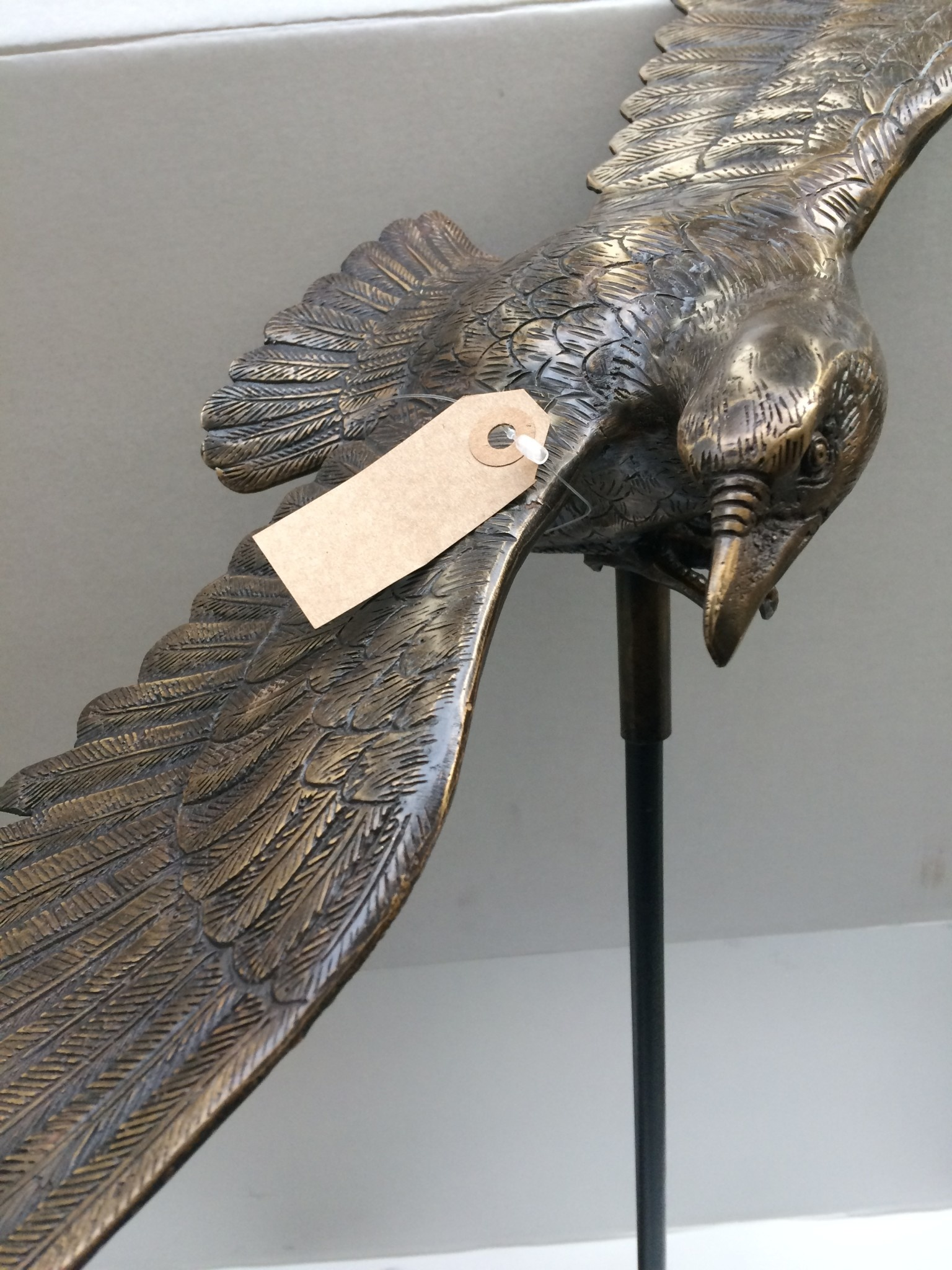 Bronze Gartenstecker Adler