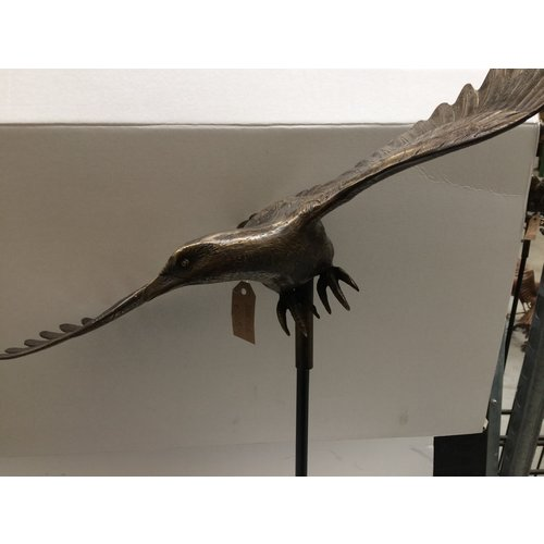 Bronze garden stick eagle