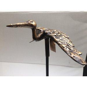 Bronze garden plug Stork