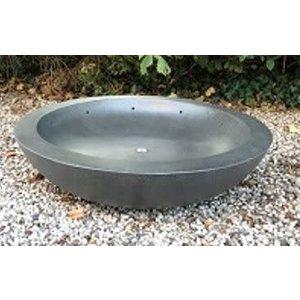 Fontein bowl  Fiber 80cm donkergrijs
