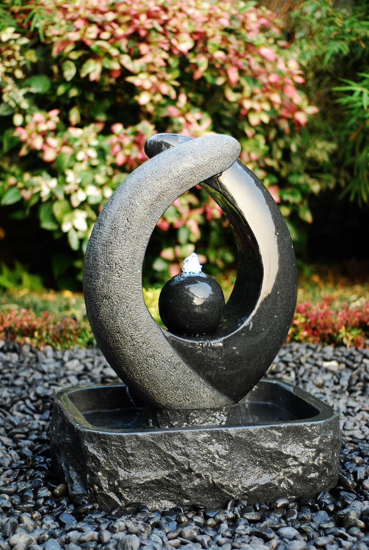Blaze Black Granitbrunnen