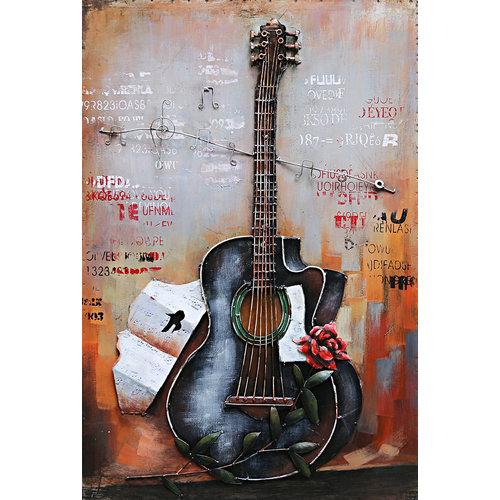 3D Malerei Gitarre 60x90cm