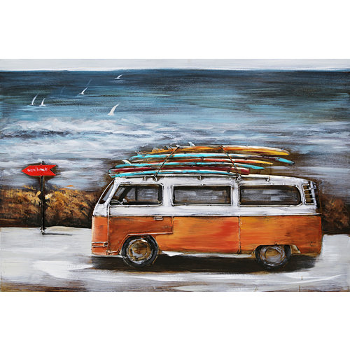 3D painting Bus vacation
