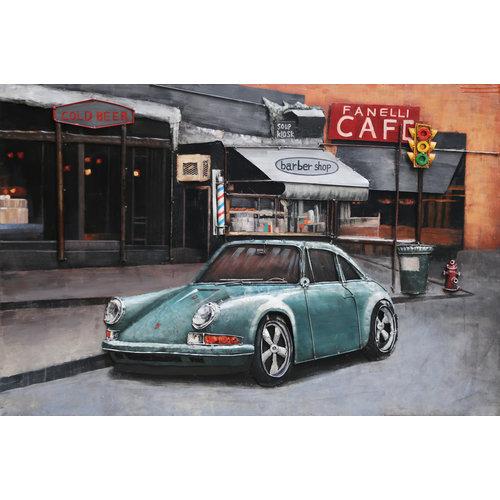 3D-Lackierung Porsche 911 80x120cm