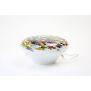 Glaslampe 'Murrina' mit niedrigem Durchmesser 34-36 cm