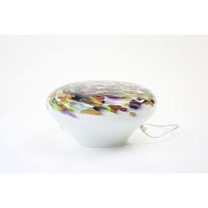 Glass lamp 'Murrina' low diameter 34-36 cm