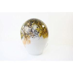 Glass lamp 'Gold' 34cm