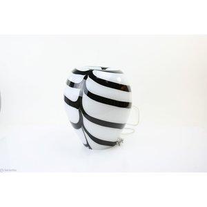 Glaslampe 'Zebra' 34 cm