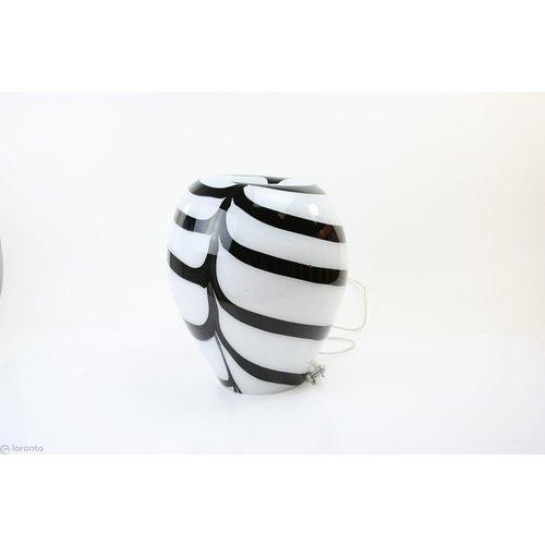 Glass lamp 'Zebra' 34 cm