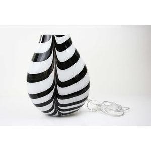 Glaslampe 'Zebra' 37-38 cm