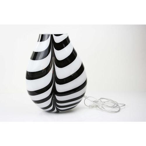 Glass lamp 'Zebra' 37-38 cm
