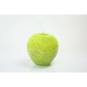 Glass sculpture Apple green 20 cm