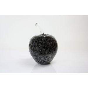 Glasstatue Apfelschwarz 20 cm