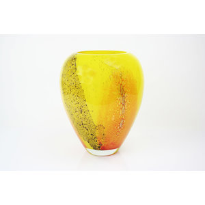 Glass vase Yellow 33 cm