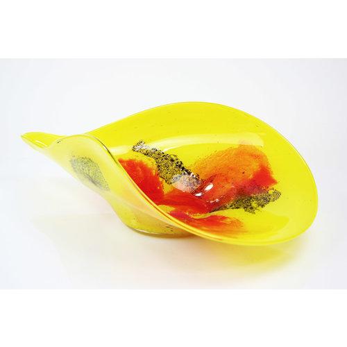 Glasschale Gelb 65 cm
