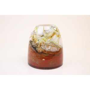 Glass vase Fire red 23cm
