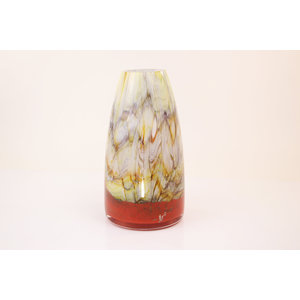 Vase glass Fire red 31 cm