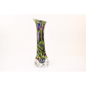 Glass vase on foot 47 cm