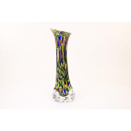 Glazen vaas op voet 47cm