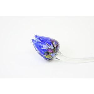 Bloem glas Tulp multi blauw