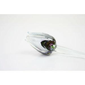 Glasblume Tulpe Multi weiß