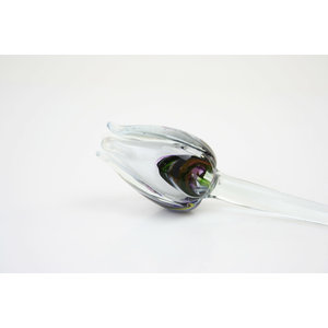 Glass flower Tulip multi white