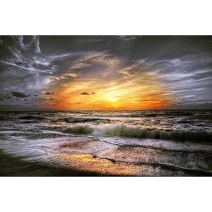 Wandkraft Glasmalerei Coastal 118x70cm