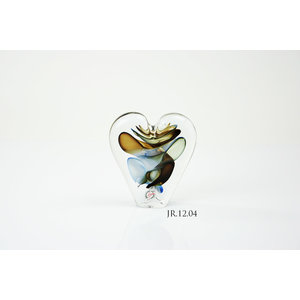Object crystal glass Heart multi 2 12cm