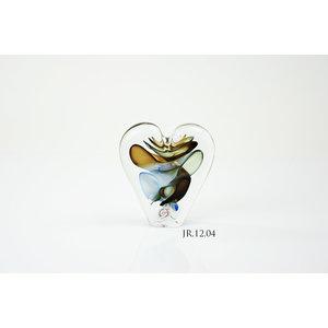 Objekt Kristallglas Herz Multi 2 12cm
