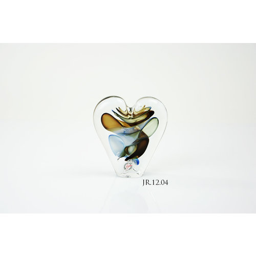 Object crystal glass Heart multi 2 12 cm